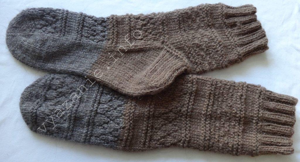 как связать носки спицами пошагово
