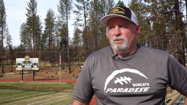 Rick Prinz is the head coach of Paradise High School. He had planned to retire but since the fire, he decided to stay and contin
