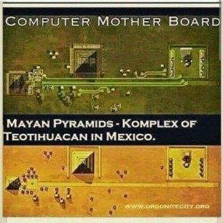 ピラミッドの配置とマザーボード