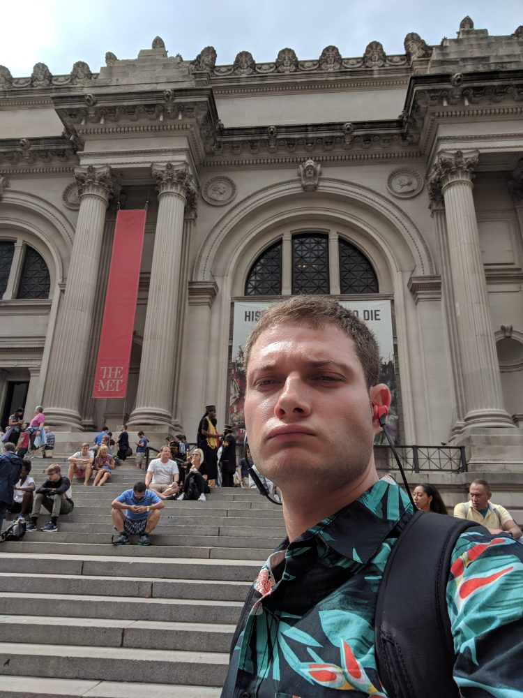 Me in front of MET