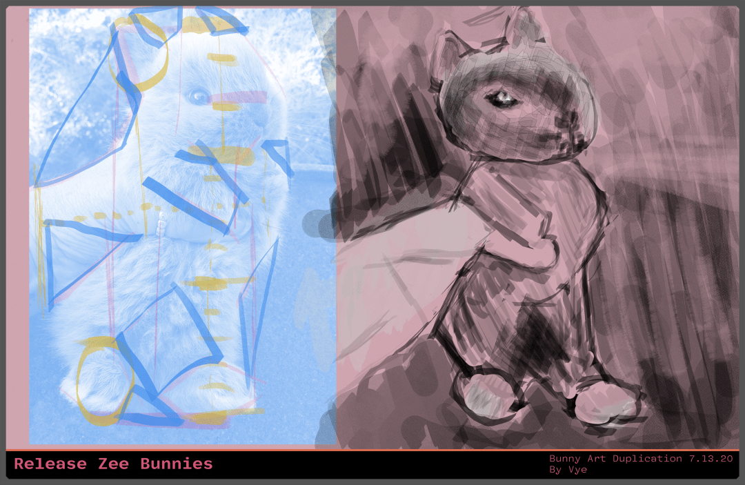Bunny Art Duplication IGTV event Yesterday - Drawing Plan Five