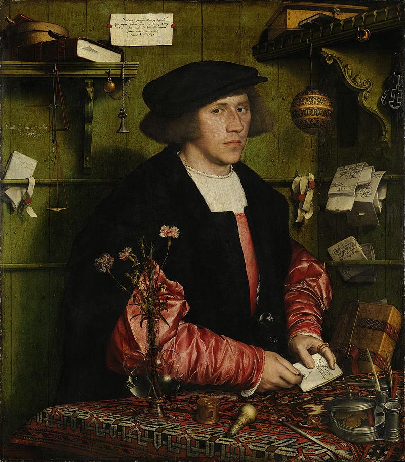 800px-Hans_Holbein_der_Jüngere_-_Der_Kaufmann_Georg_Gisze_-_Google_Art_Project