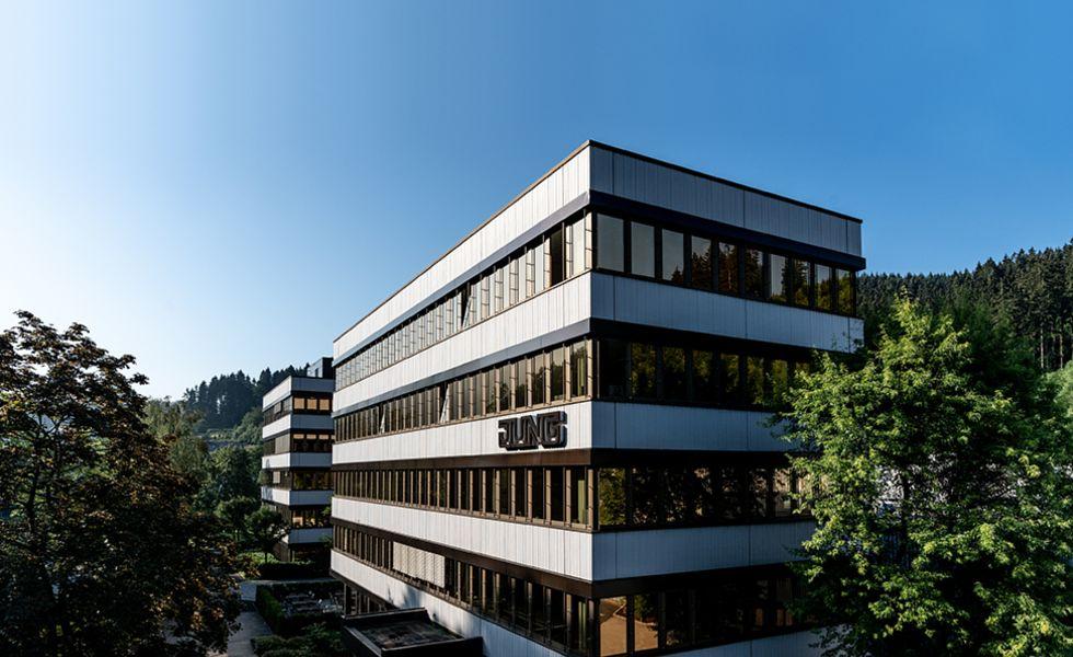 JUNG sídlo Schalksmuehle Německo