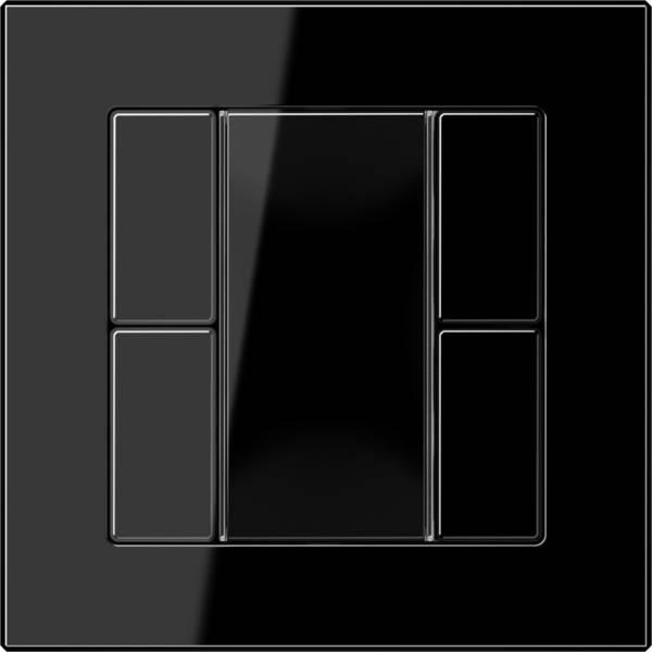 JUNG A CREATION Černé dvoutlačítko 5092TSM F50 sklo, plast