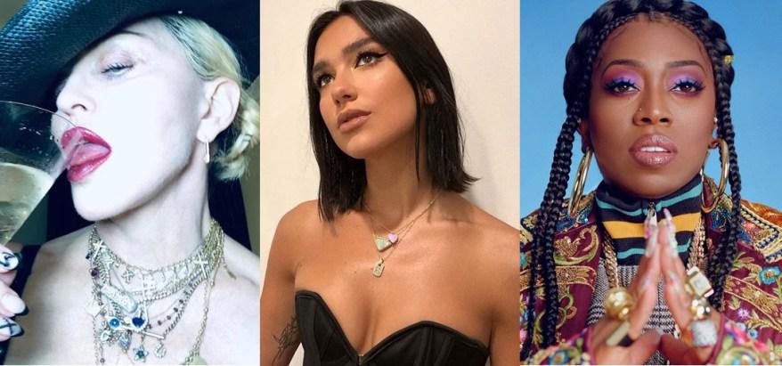 Madonna, Dua Lipa y Missy Elliott