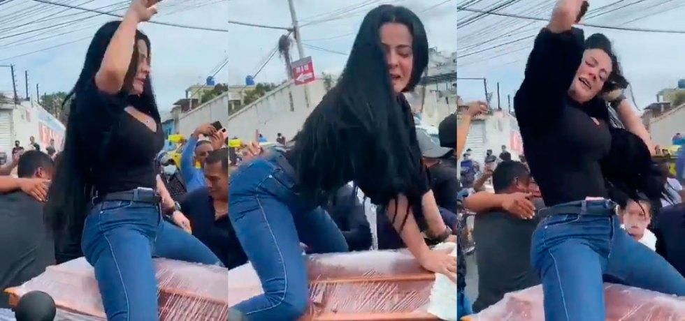 Mujer bailando ataúd