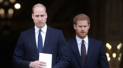 El príncipe William y Harry