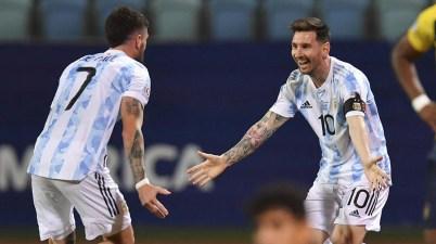 Argentina derrota a Ecuador en Copa América 2021