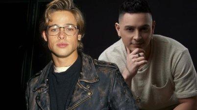 Víctor Drija y Brad Pitt