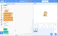 Pracovní prostředí Scratch 3.0