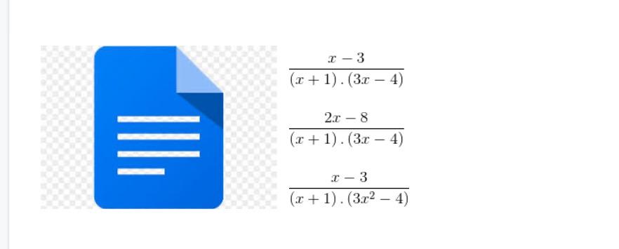 Matematický text v Google dokumentech