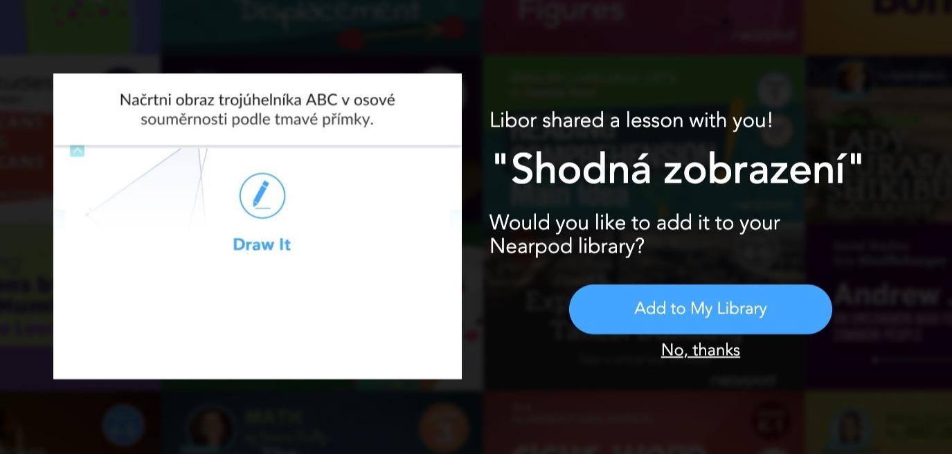 Sdílení prezentací v Nearpod