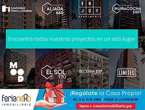 ¡Regálate el depa propio en la Feria Nexo Inmobiliario!