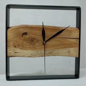 Designové hodiny dřevo a kov