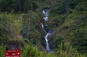 Ein Wasserfall in Baños