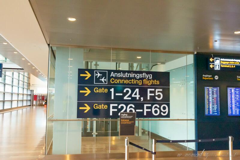 ストックホルム着!北欧では入国カードは不要なようです。