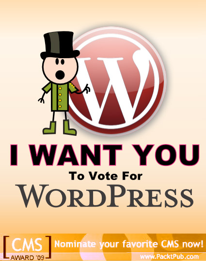 I want YOU! To vote for WordPress