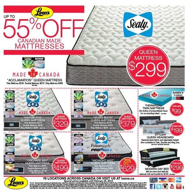 Leon S Weekly Flyer Made In Canada Furniture Feb 3 25 Redflagdeals