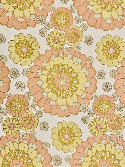 papier peint fleur vintage modele art