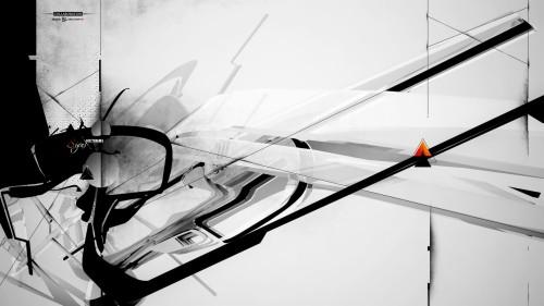 fond d ecran noir et blanc minimaliste