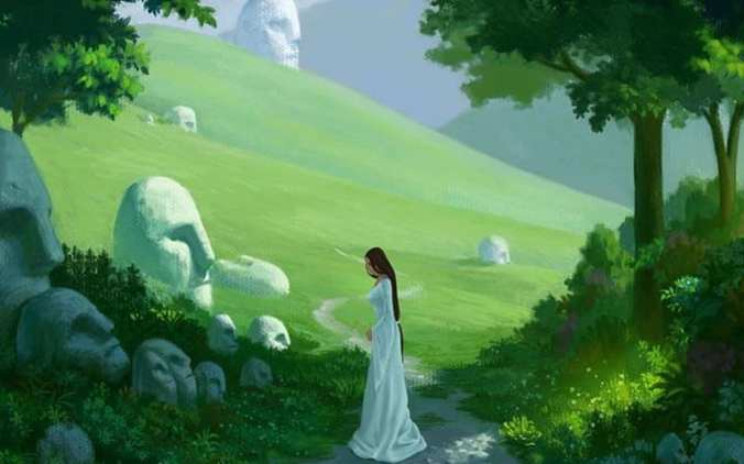 Destiny, faces, rocks, pathway, girl, mountains, white, road, trees, HD  wallpaper   Peakpx