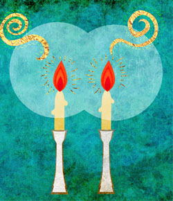 why light two or more shabbat candles