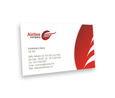 Business Card Design For Airlines Travel Offset Or Digital Printing
