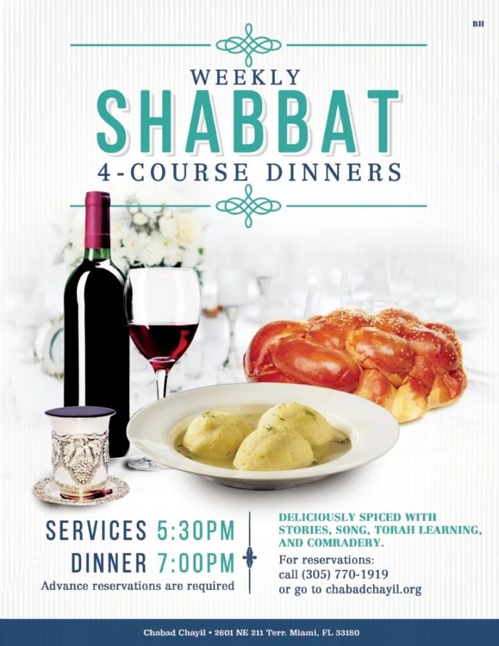 Miami Beach Shabbat Times