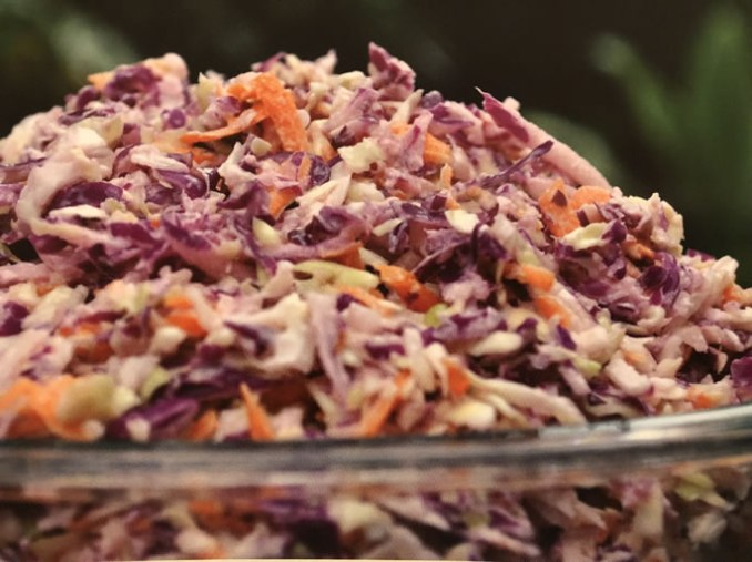 Tri-Color Hawaiian Cabbage Salad - Cabbage-Based Salads