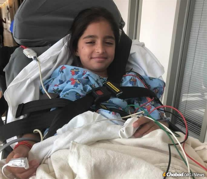 Noya Dahan, 8, was injured in the attack.