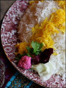 Persian Steamed White Rice Chelo Side Dish Kosher Recipe