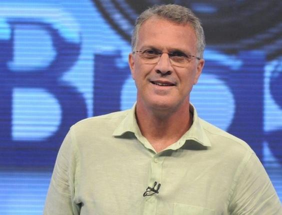 Pedro Bial comanda o Big Brother Brasil na Globo, o reality está na grade de férias da emissora carioca (2010)