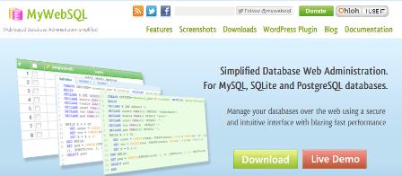 MySQL, SQLite, PostgreSQL web client - MyWebSQL