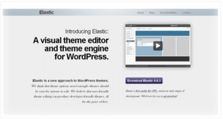 Elastic Theme Editor | Elastic is a defunct visual theme editor for WordPress by Daryl Koopersmith