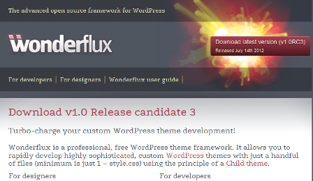 Wonderflux - WordPress free, open source theme framework