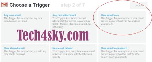 Gmail as trigger - IFTTT