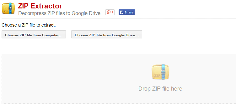 ZIP Extractor is a free, open-source application for decompressing ZIP files into Google Drive.