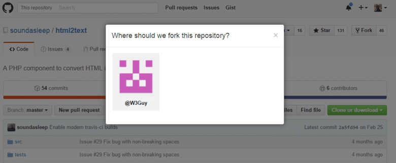 Forking GitHub repository