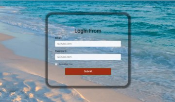 Login From in bootstrap