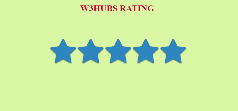 Simple Star Rating Bar