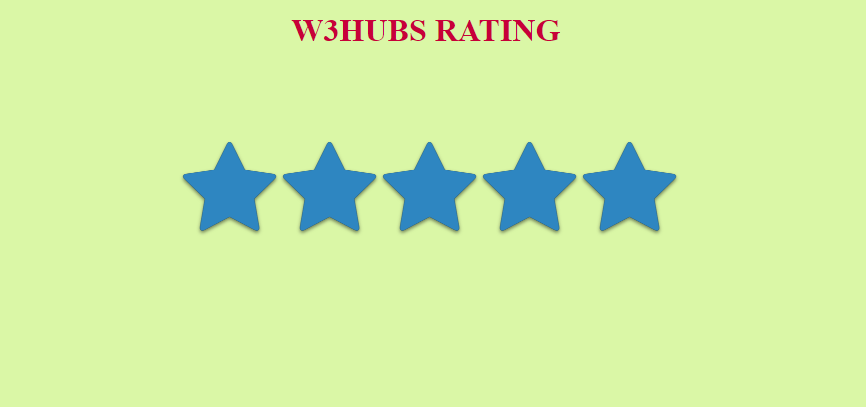 Simple Star Rating Bar In Html