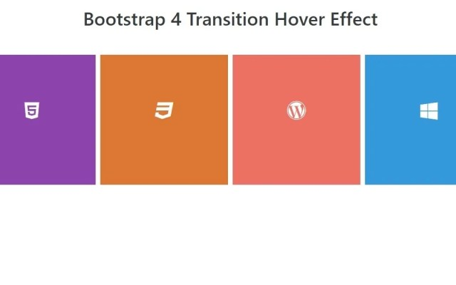 Transition Hover Effect in Bootstrap 4