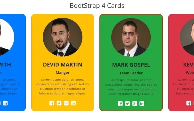 Responsive Cards In Bootstrap 4