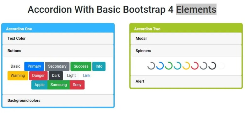Simple Accordion With Basic Elements Using