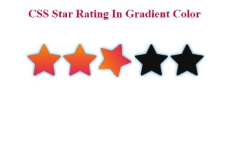 CSS Star Rating In Gradient Color