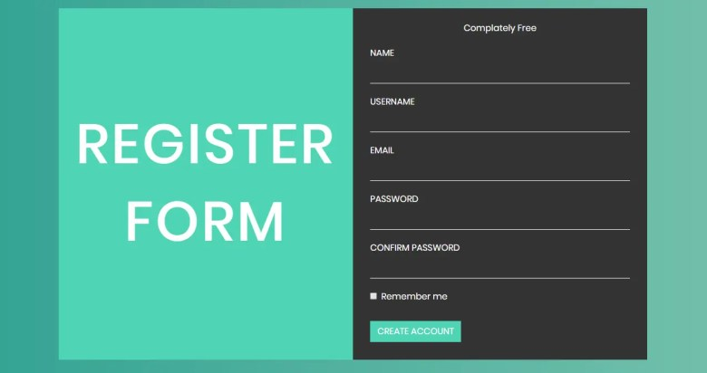Register Form In Bootstrap