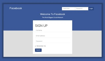 Facebook UI Template In Bootstrap 4