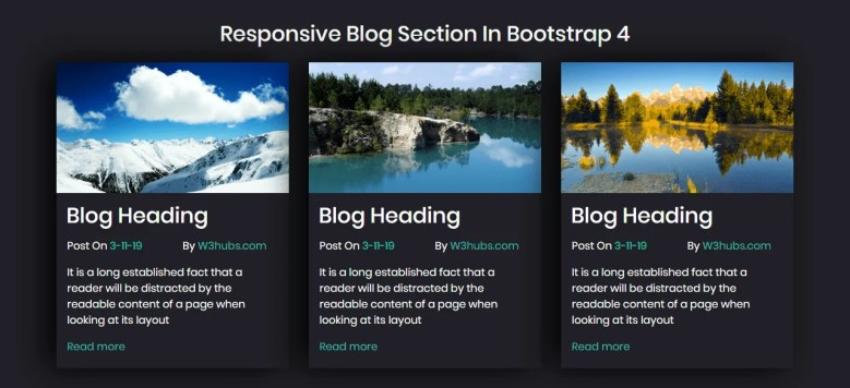 Responsive Blog Section In Bootstrap 4
