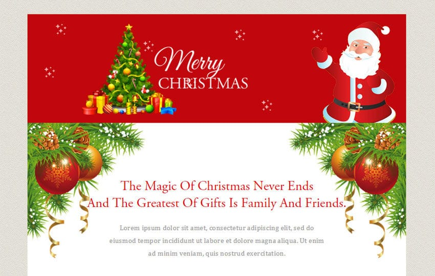 Merry Christmas A Newsletter Responsive Web Template W3layouts