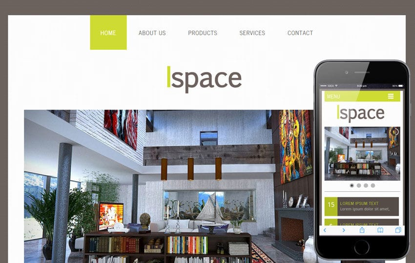 Ispace a interior architects Mobile Website Template by w3layouts Ispace a interior architects Mobile Website Template